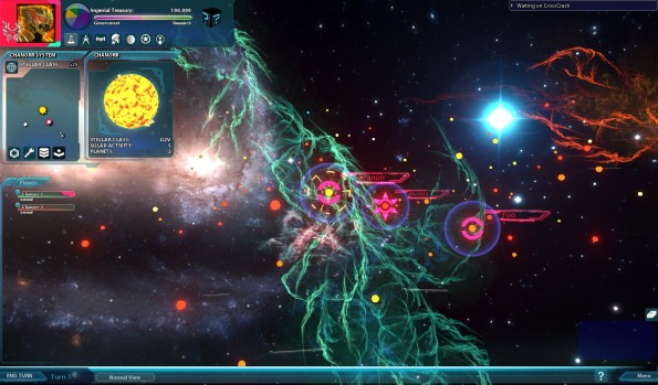 Sword of the Stars 2: galaxy view
